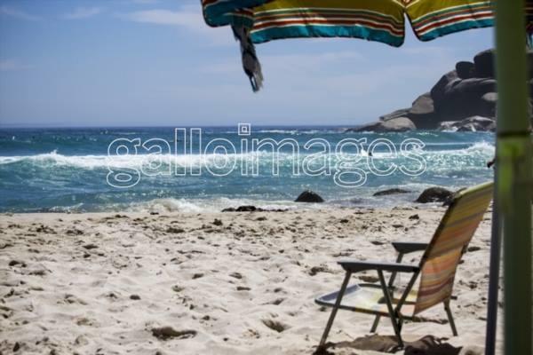 Beach chair, stock image