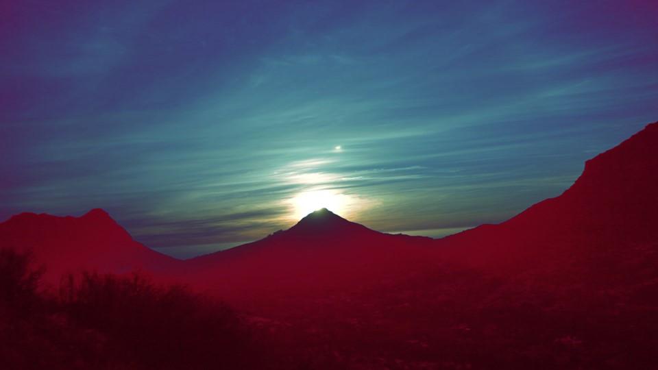 Sept 21st sunset over little lions head mt. Cape Town.