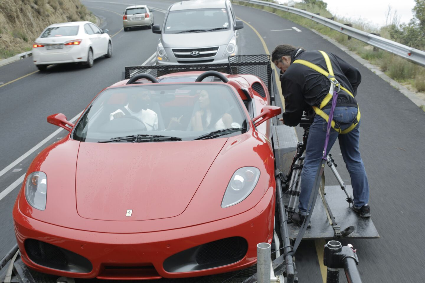me on Tracking Vehicle for 9ice music video